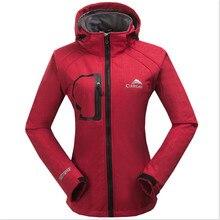 2019 NEW Soft shell fangen einen pullover Weichen ski-tragen Winddicht Wasserdichte Outdoor-Camping Wandern Jacken Weibliche Regen Jacke