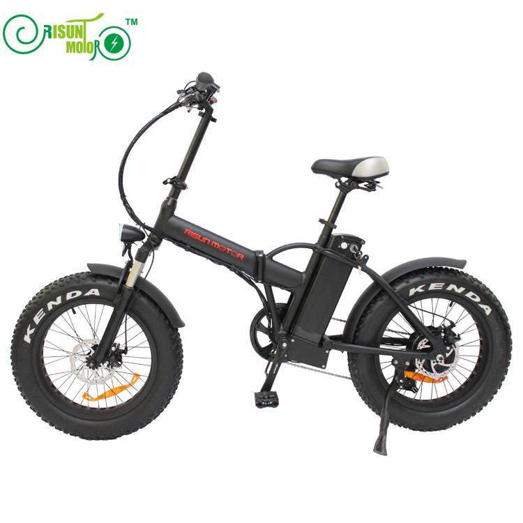 RisunMotor Mini bicicleta eléctrica plegable 36V 500W 8Fun/Bafang Motor del cubo 20 pulgadas bicicleta eléctrica del neumático gordo con batería de litio 36V 15AH