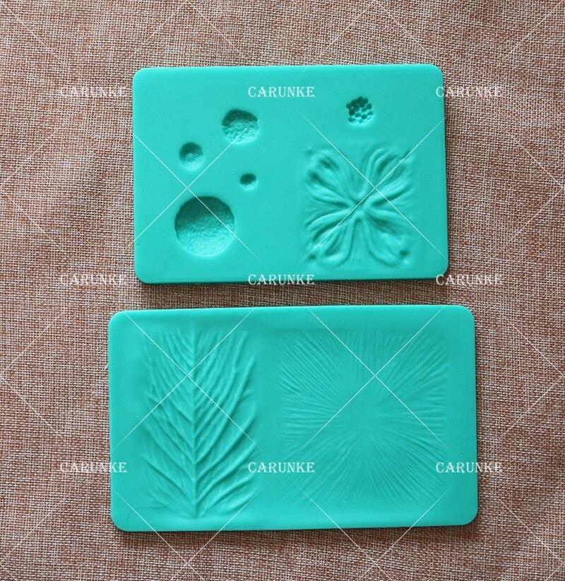 20*12.8 bolo placa de silicone 1 pc pétala e folhas veining ranhuras placa de decoração plataforma bolo fondant ferramentas de cozimento flor