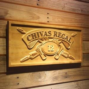 Chivas Regal 12 Whisky 3D Wooden Signs