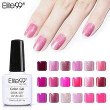 Elite99 10ML Magenta de la serie de la manera de esmalte de uñas de gel uv remoje Vernish Semi permanente LED laca para esmalte de uñas Gelpolish