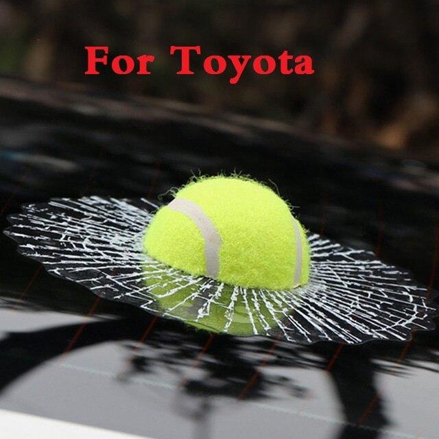 Nuevas calcomanías divertidas 3d de pelota de tenis, pegatinas para carrocería de coche, estilo para Toyota Verossa Vios Vitz Will Cypha Windom Yaris Highlander