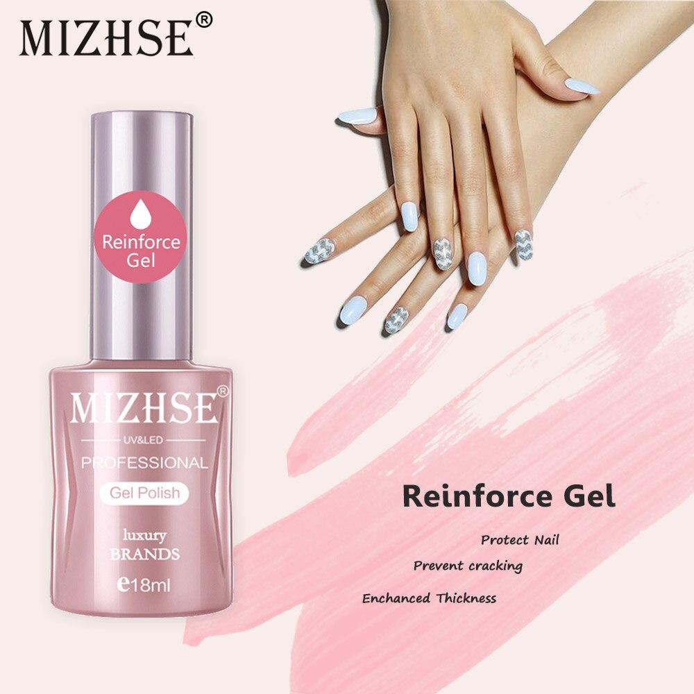 MIZHSE 18ml Reinforcement Gel Polish UV/LED Gel Polish Varnish Protect Strengthen Clear Transparent Color Strong Glue
