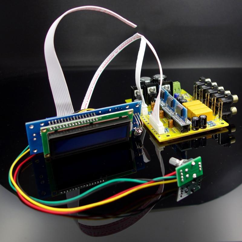 PGA2311X3 6 kanal Fernbedienung Volume Control Vorverstärker LCD Display 5,1 audio verstärker NE5532 OP AMP Für Verstärker