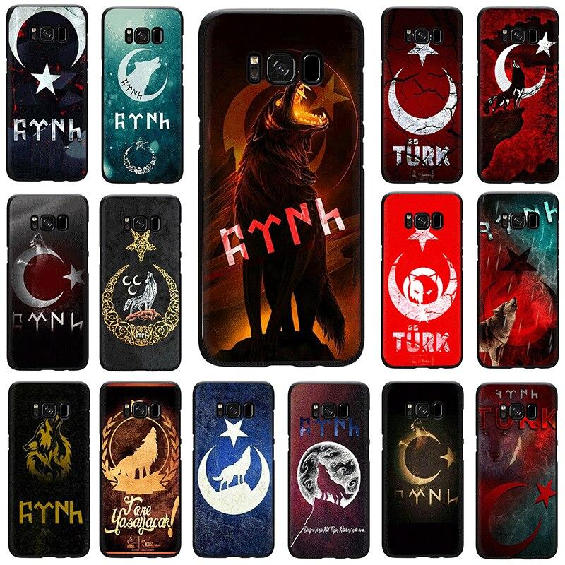 Bandera de Turquía Wolf funda de teléfono de silicona suave para Samsung GaLaxy S7 S6 Edge S8 S9 S10 Plus S10e M10 m20 M30 Nota 8 9