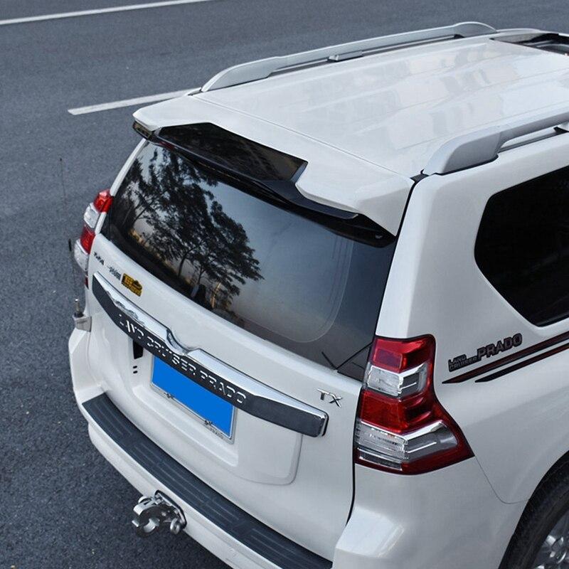 GZJCCG ABS Plastic Black White Color Rear Trunk Boot Wing Spoiler For Toyota Cruiser Prado FJ150 FJ 150 2010-2018