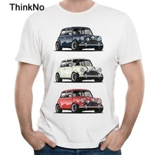 Retro DE ITALIAANSE TRIO Mini Cooper T-shirt Populaire Auto Hipster Stijl T-shirt
