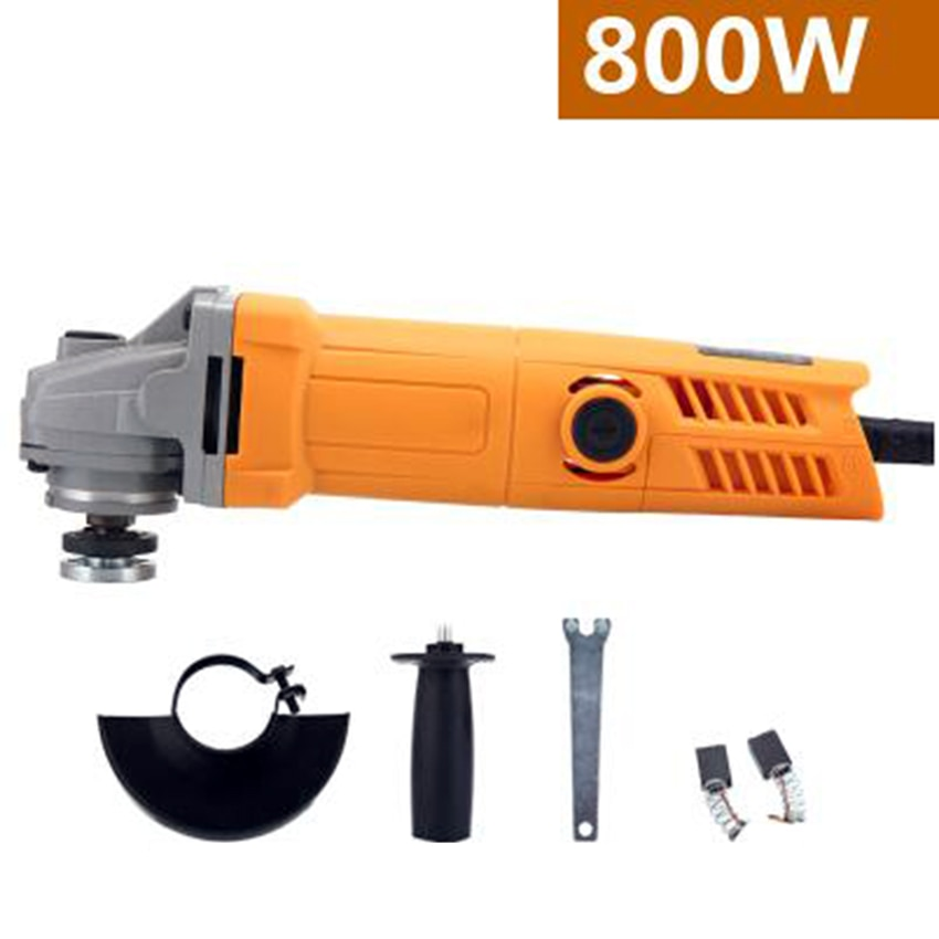 220V 800W Handheld Electric Angle Grinder Speed Regulating Grinding Machine for Metal Wood Polishing Cutting Tool