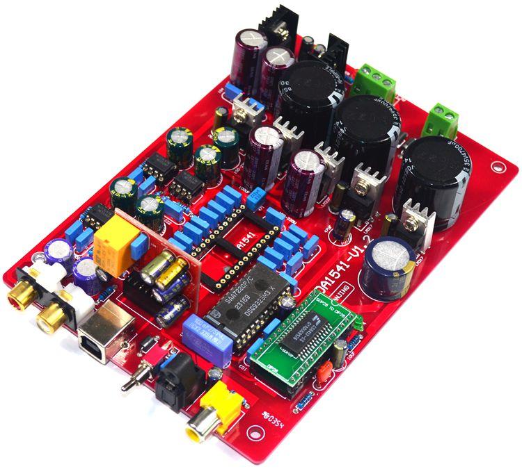 Placa de decodificador coaxial de fibra óptica tda1541