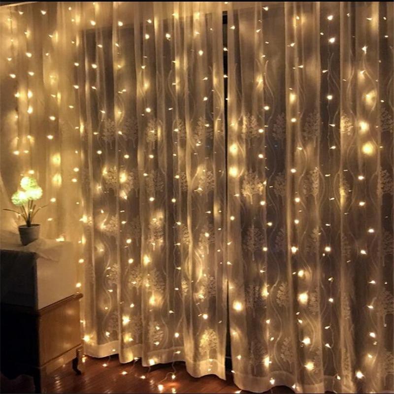 Светодиодные лампочки 3*2,5 м 240, Рождественская гирлянда для занавесок, светодиодные лампы для свадьбы, праздничное освещение для вечеринки, ...