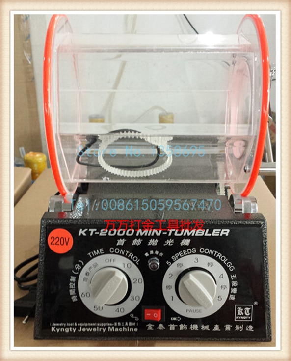 220 V Capacità 5 kg Rocce Levigate in Strumenti di vendita Dei Monili Rotary Tumbler lucidatrici strumenti di Lucidatura Dei Monili Macchina