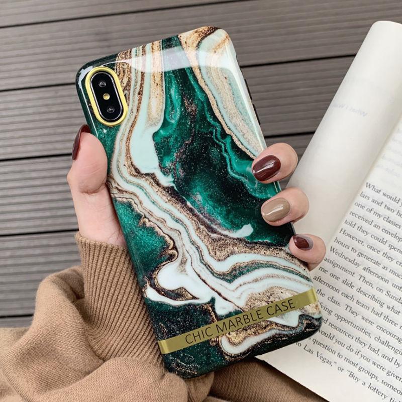 Модный художественный чехол для iphone XS XR XS Max 6 6S 7 8 Plus, Блестящий Мягкий силиконовый чехол, задняя крышка, Капа
