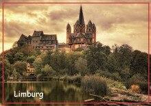 Aimants enveloppés en métal livraison gratuite cathédrale de limbourg touriste Souvenir aimant 20318; Vente en gros personnalisé accepter