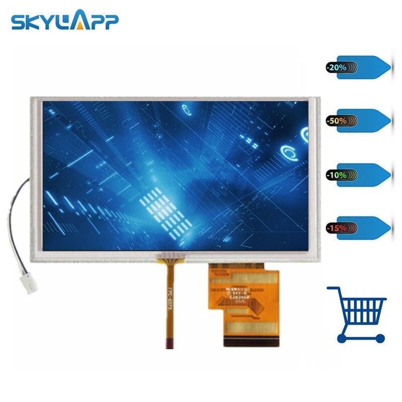 Skylarpu pantalla LCD de 6,2 pulgadas para Hannstar HSD062IDW1 A00 GPS pantalla de visualización con reemplazo de reparación de Digitalizador de pantalla táctil