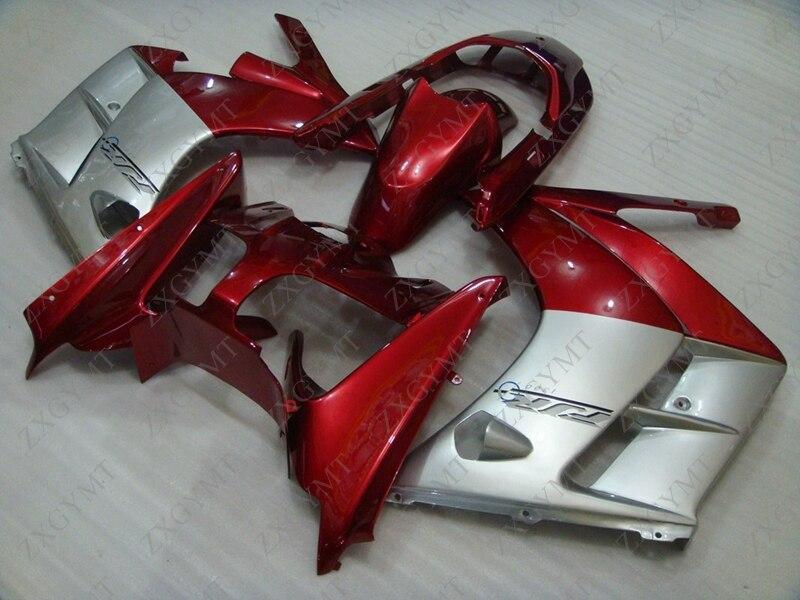 Kits de cuerpo completo para YAMAHA FJR 1300 2002 - 2005 perla roja plateado Abs carenado FJR1300 2004 carenados de plástico FJR 1300 2002
