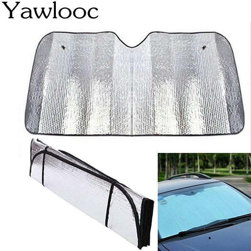 1 Pza/lote Universal reflectante de aluminio para coche parabrisas parasol para ventana frontal parasol para parabrisas protector UV