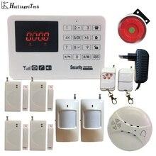 Wireless GSM Alarm System Security Auto Dial Wireless Home Burglar Alarm Motion Sensor Security Alarm DIY Kit with Smoke Sensor
