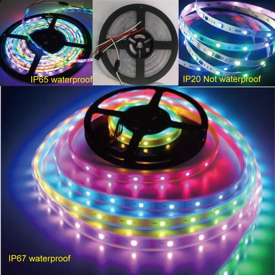 Coloridas luces mágicas 5m 150LED/300LED DC12V ws2811ic 5050 RGB SMD direccionable ws2811 led píxeles tira Flexible LED tira