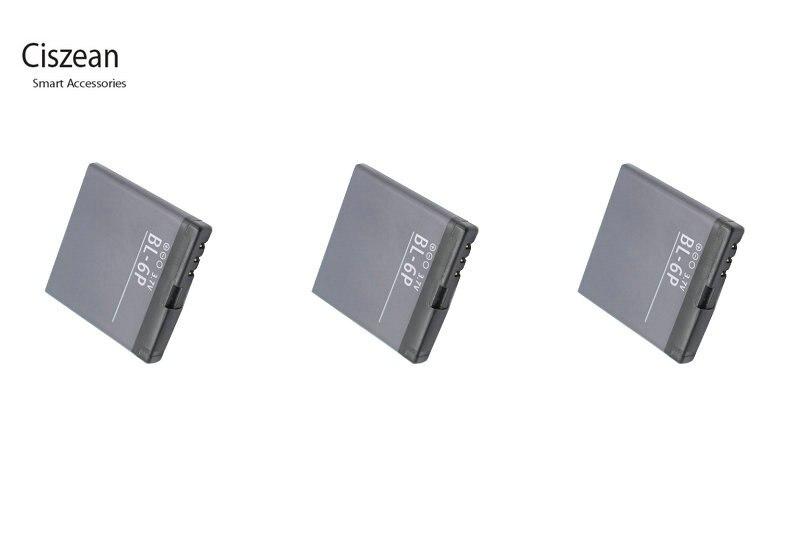 Ciszean 3x3,7 V 830 mAh BL-6P Telefon Ersatzakku für Nokia 6500C 6500 Klassische 7900 Prisma 7900 P BL 6 P BL6P bl6p