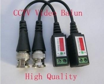 Balun-جهاز إرسال فيديو سلبي ، 10 أزواج ملتوية BNC ، UTP ، Balun BNC Cat5 CCTV UTP ، حتى 3000 قدم