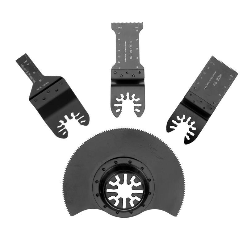 4 шт. Осциллирующий Мультитул E-cut, стандартный пильный диск, Ремонтный электроинструмент для дерева, пластика, мягкие металлические режущие ...
