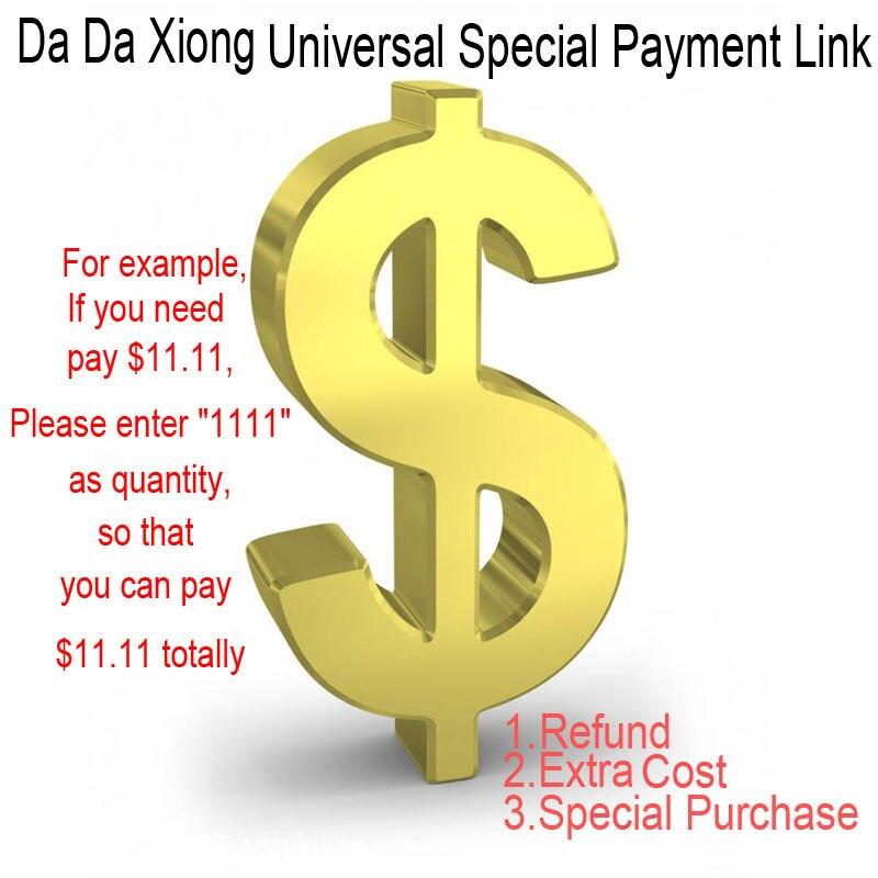 """[Da da xiong link de pagamento especial] preço unitário é de us $0.01. Se você precisa pagar $11.11, por favor digite """"1111"""" como quantidade."""