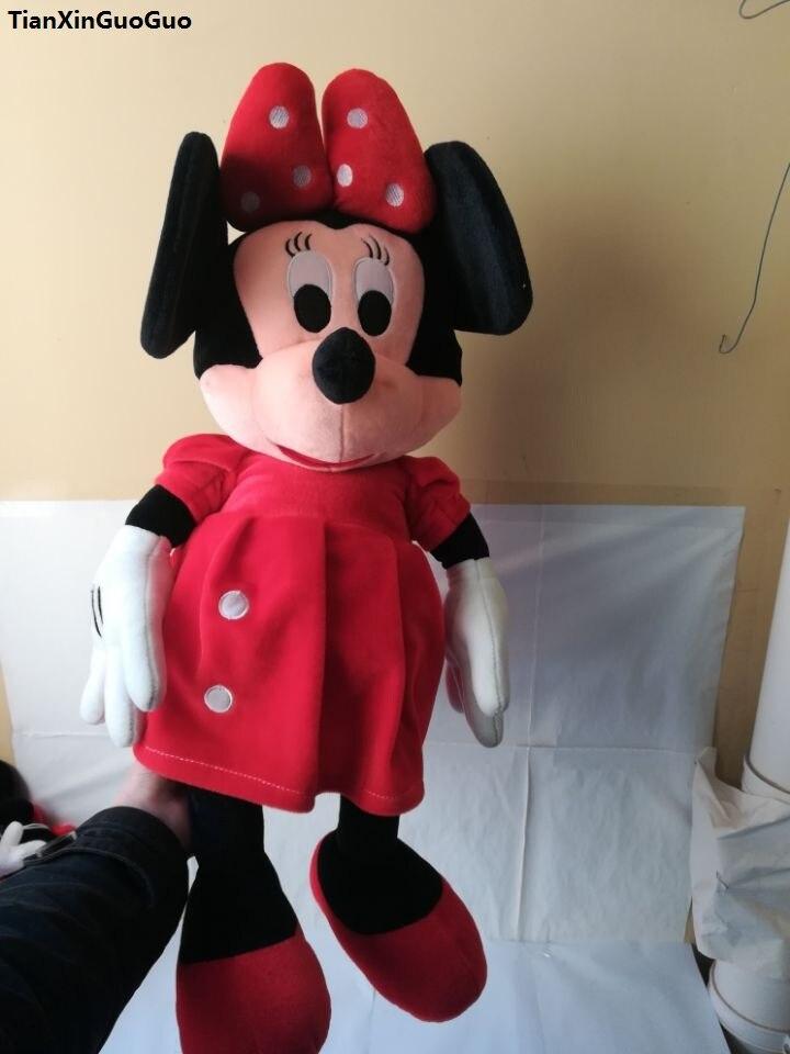 Personaje de película y TV falda roja minnie mouse Peluche de juguete grande 65cm cojín de muñeco suave Regalo de Cumpleaños w1877