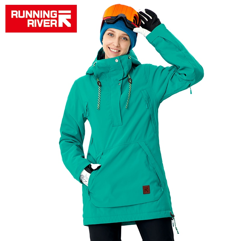 RUNNING RIVER Brand Women Snowboard Jacket For Winter Warm Outdoor Sports Clothing High Quality Sports  #A8011