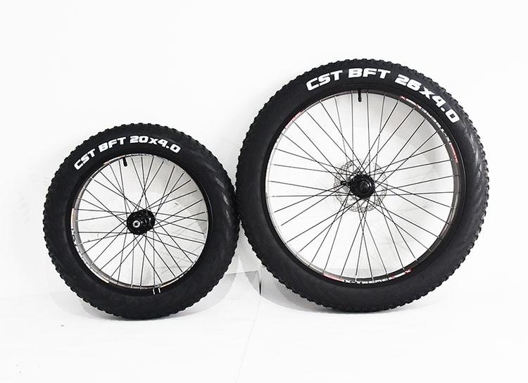 CST 26*4,0 20*4,0 Anti puñalada agarre áspero playa nieve grasa bicicleta neumático tubo