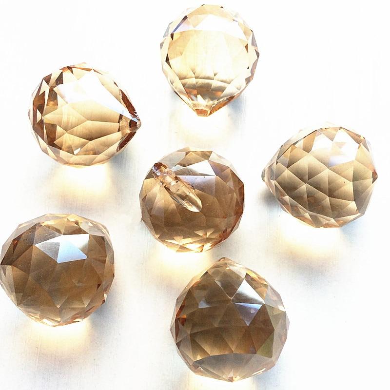 40 unids/lote 40mm atrapasol champán iluminación bola colgantes accesorios decoración del hogar prismas de cristal de araña de luces piezas