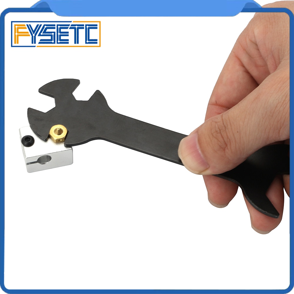 3D Printer Parts Tool 5 IN 1 Wrench Stay 5.7mm to 20.2mm Steel Spanner Multifunction Wrench Flat Spanner For E3D MK8 MK10 Nozzle