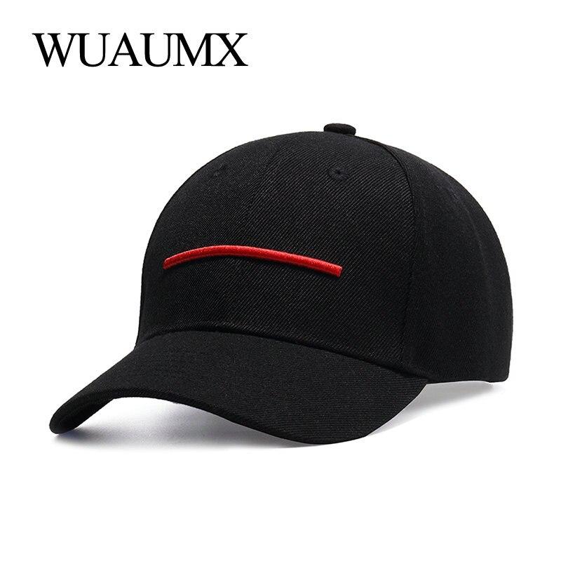 Wuaumx de verano gorras de béisbol de las mujeres de los hombres gorra de béisbol negro sombrero de papá hueso Snapback Hip Hop curva alcanzó Snap tapa de atrás gorras para hombre beisbol