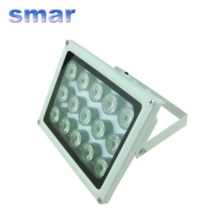 Lámpara iluminadora infrarroja auxiliar Smar de 15 ledes IP66 resistente al agua para cámara de vigilancia CCTV de seguridad