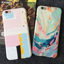 Funda de teléfono con dibujo de Arte de lujo para iphone SE carcasa pintada colorida de dibujos animados para iphone 6S 6 7 8 Plus 5 5S