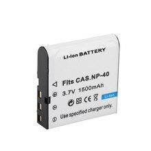 Dinto 1pc 1500mAh 3,7 V batería Digital NP-40 NP40 CNP-40 CNP40 Cámara recargable baterías para Casio EX-Z40 Z55 Z57 FC100