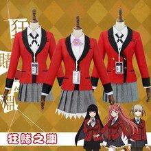 Anime Kakegurui Cosplay Costume Jabami Yumeko/Momobami Kirari/Yumemite Yumemi Cosplay Costume femmes uniforme scolaire costumes