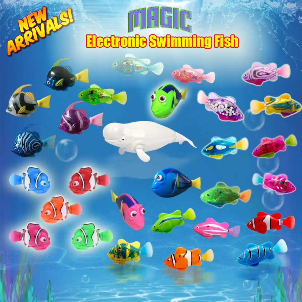 2019 New Funny Swimming Electronic fish Activated Battery Powered fishes Toy fish Pet for Fishing Ta