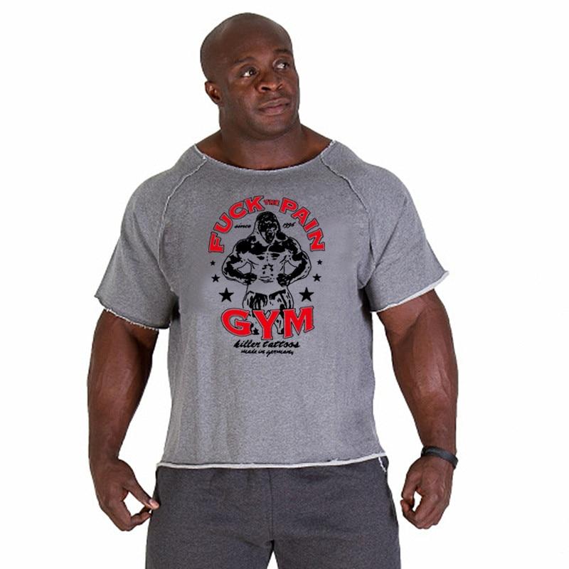 Новые модные брендовые хлопковые футболки, топы для мужчин, спортивные тренажеры, фитнес-рубашки, мужские для тяжелой атлетики, бодибилдинга, тренировки, форма для гимнастики, фитнеса, мужские футболки