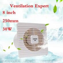 8 pollici 180 millimetri Bagno ventilatore di scarico della cucina finestra di Vetro muro di Corrente Domestica ventilatore di scarico