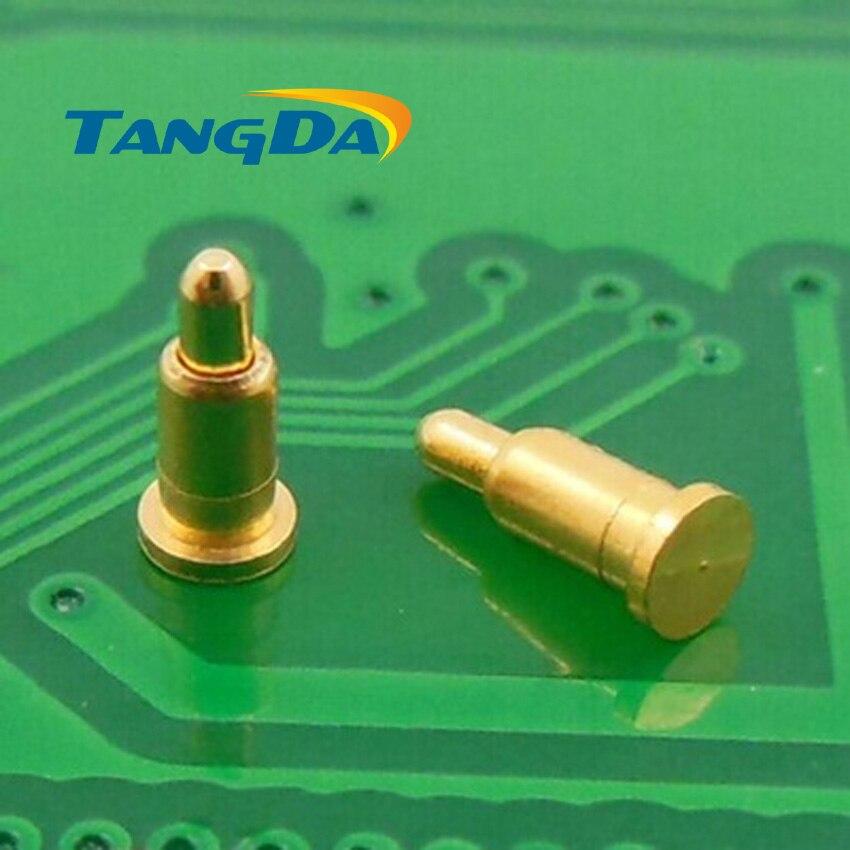 """Tangda DHL/EMS D2 * 4,5mm 1000 Uds conector pin POGO móviles batería primavera 1P dedal superficie de montaje SMD placa de oro 1u """"1.2A"""