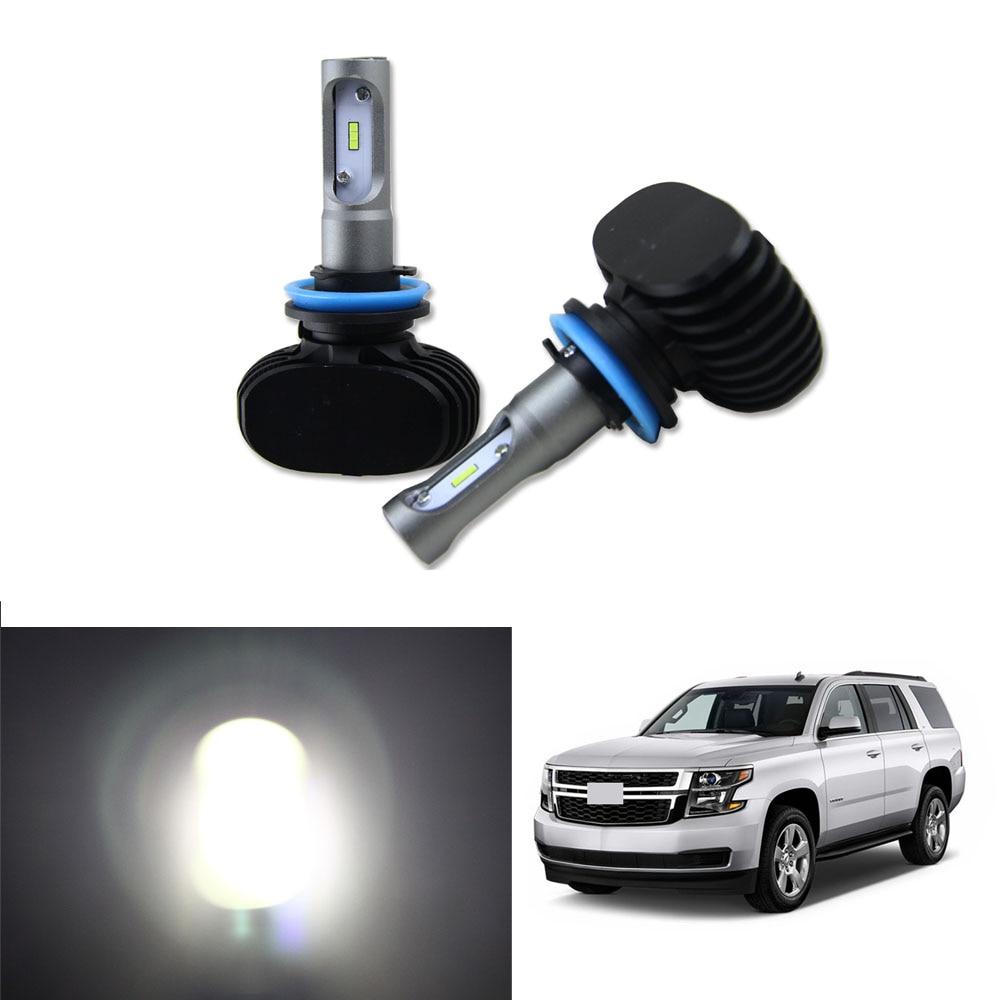 High Power 50W 8000LM H11 LED Headlight Kit Low Beam Bulbs For 2007-2016 Chevy Chevrolet Tahoe Car Light Headlamp