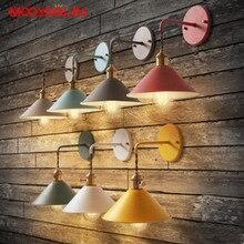 Винтажная промышленная настенная лампа с покрытием, ретро-светильник, светодиодный настенный светильник, Lamparas De Pared, для лестницы, железный настенный светильник