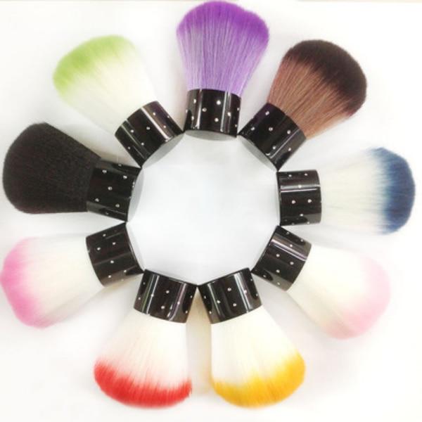 Free Shippin Hot Sales 1pcs/Set Professional Nail Brush Cleaner Dust Powder Brush Nail Art Brush Tools Pedicure