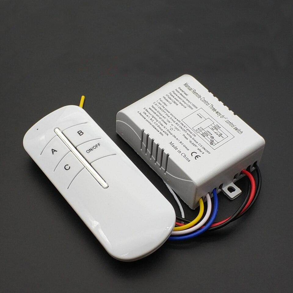 Беспроводной вкл/выкл лампа пульт дистанционного управления переключатель приемник передатчик 220В 3 способа