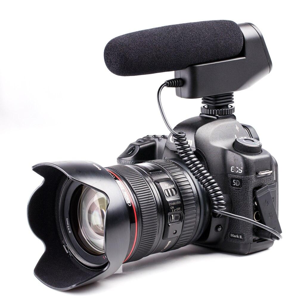 3,5mm BOYA BY-VM600 Kamera Shotgun Mikrofon Video Mic für Interview Broadcast Canon Nikon Sony Pentax DLSR Kamera