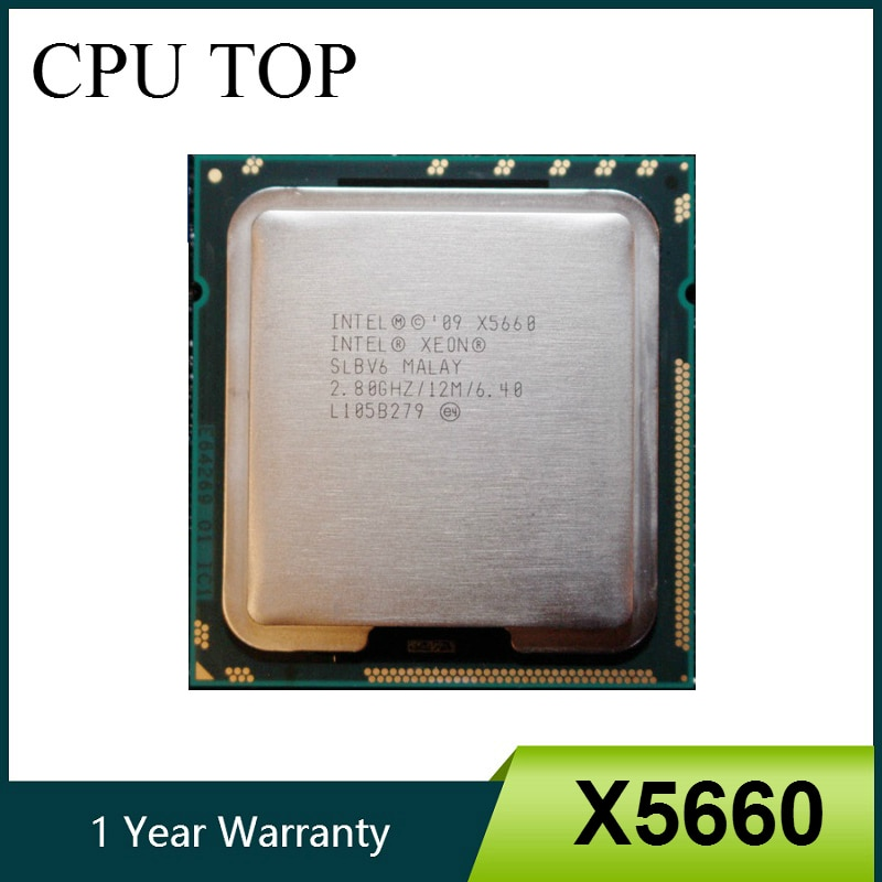 Intel Xeon X5660 2.8 GHz Six Core 12M Processor LGA1366 Server CPU