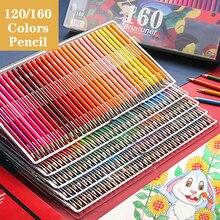 Brutfuner 120/160 kolory profesjonalny olej kolor ołówki zestaw artysta malarstwo szkicowanie drewna kolor ołówek szkoła dostaw sztuki