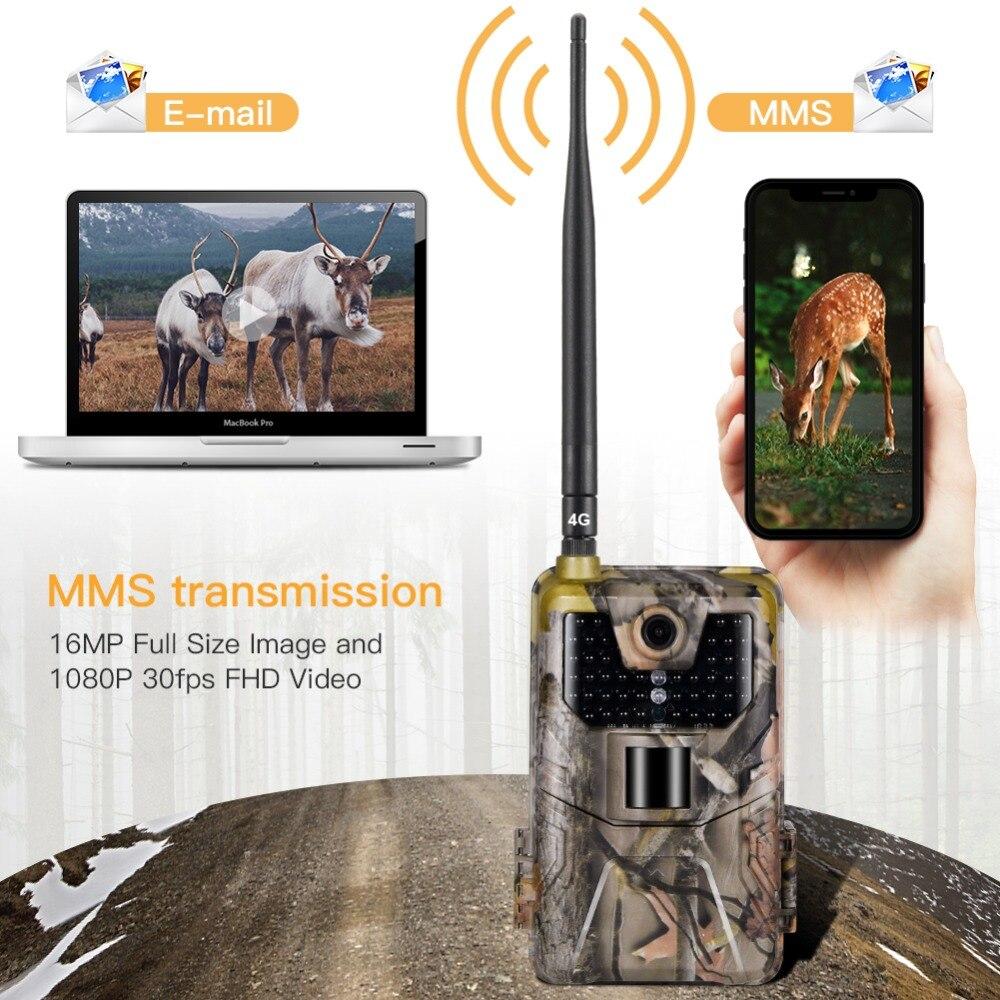 4G FTP MMS Email SMS 20 MPTrail كاميرا الحياة البرية الصيد كاميرات HC900LTE 1080 P 0.3 STrigger الأشعة تحت الحمراء البرية مراقبة