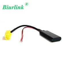 Biurlink araba sarı 6Pin Mini ISO aux-in Bluetooth modülü ses adaptör kablosu Fiat 500 Bravo Panda Punto için Blaupunkt CD
