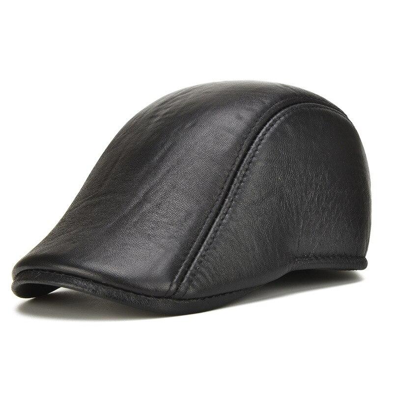 La primera capa de gamuza realmente pipi sombrero hombre sombrero moda duckbill cap sombreros de avance